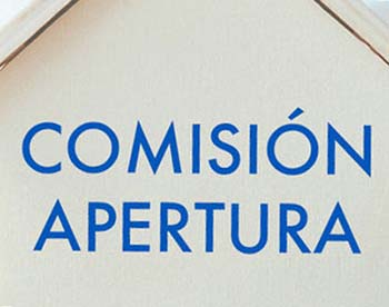 comissio obertura comision apertura